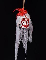 Halloween Haunted House Decoration Bar Props Bubble Simulation Bleeding Graveyard Terrorist Ghost Head Dress Up Yarn Silk Pendant