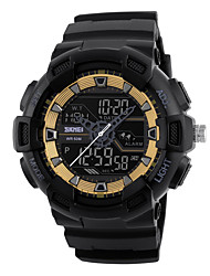 SKMEI  Sport Digital Wristwatches Chronograph Alarm Clock Outdoor Full Black Dual Time Display Watches