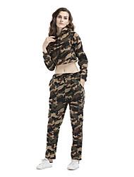 Sweat à capuche Pantalon Costumes Femme,camouflage Sports Décontracté / Quotidien Vacances Sortie simple Actif Sexy Chic de RueAutomne