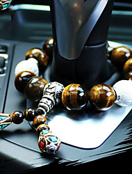 DIY Automotive High-Grade Car Pendant Stalls Beads Natural Tiger Eye Stone Car Pendant & Ornaments Jade