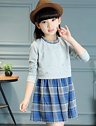 Girl's Check Dress Long Sleeve