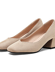 Women's Heels Basic Pump Spring Summer Synthetic Microfiber PU PU Wedding Casual Dress Party & Evening Office & Career Chunky Heel Black