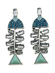 Mulheres Brincos Compridos Imitação de Diamante Básico bijuterias Bling Bling Strass Liga Jóias Jóias Para Diário Casual Encontro