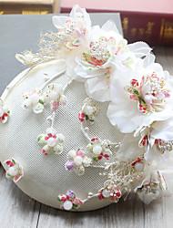 Tulle Mousseline de soie Tissu Filet Casque-Mariage Occasion spéciale Anniversaire Fête/Soirée Coiffure Chapeau Pique cheveux 1 Pièce