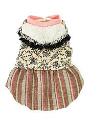 Chien Pulls à capuche Robe Vêtements pour Chien Décontracté / Quotidien Floral/Botanique