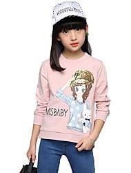 T-shirt Da ragazza Cotone Con stampe Con ricami Autunno Per tutte le stagioni Maniche a ¾ Standard