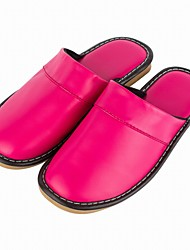 Womens Slippers Genuine Leather Slip-On House Comfy Bedroom Indoor Shoes