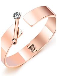 Japanese and Korean simple rose gold bracelet female bailio fashionable temperament horizontal bar is inserted into the bracelet bracelet bracelet