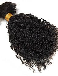 Curly Human Braiding Hair Bulk Indian Hair 100% Unprocessed Human Bulk Hair Extensions Natural Color 100gram For Sale