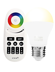 E27 6W 2.4GHz RGB Warm White Stepless Dimming Phone-Wifi Control Wireless Remote Control Smart Bulb AC85 - 265V with Remote Control