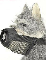 Dog Muzzle Anti Bark / Adjustable/Retractable / Safety Solid Black Nylon