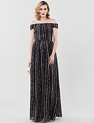 Футляр В пол Шифон Торжественное мероприятие Платье с Плиссировка от TS Couture®