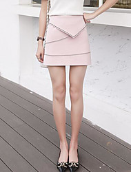 Women's Holiday Asymmetrical Skirts A Line Solid Summer