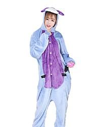 kigurumi Pyjamas Âne Fête / Célébration Pyjamas Animale Halloween Mode Brodée Flanelle Costumes de Cosplay Kigurumi Pour Couple Unisexe