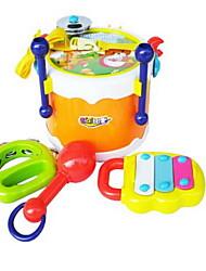 Instrumentos de brinquedo Redonda Quadrada kit de bateria Instrumentos Musicais Plásticos Plástico Duro