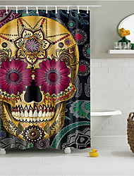 Polyester with High Quality Shower Curtains & Hooks