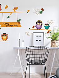Animal Stickers muraux Autocollants avion Autocollants muraux décoratifs,Vinyle Matériel Décoration d'intérieur Calque Mural