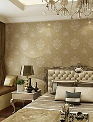 Floral Estampado Fondo de pantalla Para el hogar Moderno / Contemporáneo Revestimiento de pared , Tela no tejida Material adhesiva