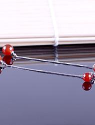 Women's Drop Earrings Earrings Set Garnet Rhinestone Friendship Fashion Luxury Adorable Elegant Alloy Geometric Jewelry For Wedding Party