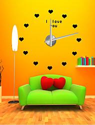 Модерн Деревенский Повседневный Офисный Прочее Сказка Романтика Мода Настенные часы,В форме сердца Нержавеющая сталь Этиленвинилацетат