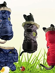 Dog Coat Dog Clothes Keep Warm Police/Military Blue Red Coffee