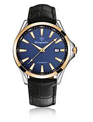 Homens Relógio de Moda Chinês Automático - da corda automáticamente Calendário Gravação Oca Mostrador Grande Couro Banda Legal Preta