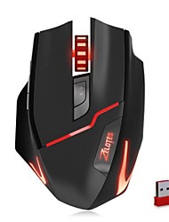 zelotes f - 18 mouse de jogo wirdless / com fio de modo duplo com mouse de luz de respiração