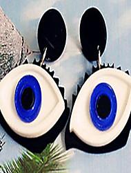 Mujer Niños Pendientes cortos Pendientes colgantes Personalizado Joyería Destacada China Forma Oval Joyas Para Halloween Discoteca