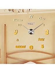 Модерн Деревенский Повседневный Офисный Сад Настенные часы,Круглый Нержавеющая сталь Этиленвинилацетат Применение В помещении Часы
