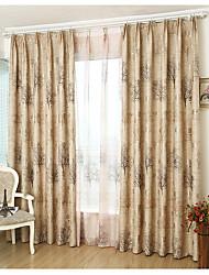 Ventana Tratamiento Moderno , Árboles y Hojas Dormitorio Material Blackout cortinas cortinas Decoración hogareña For Ventana