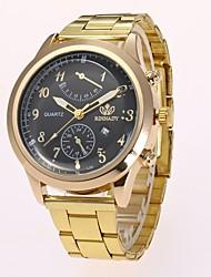 Муж. Нарядные часы Модные часы Наручные часы Китайский Кварцевый Имитация Алмазный сплав Группа Повседневная Элегантные часы Золотистый