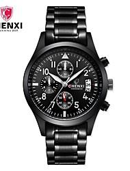 Homme Montre Habillée Smart Watch Montre Tendance Chinois Quartz Calendrier Acier Inoxydable Bande Charme Cool Pour tous les jours Luxe