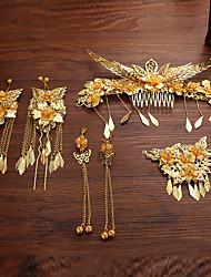 Alloy Headpiece-Wedding Hair Combs Flowers Hair Clip Hair Pin Hair Stick 4 Piece