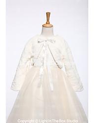 Kids' Wraps Shrugs Faux Fur Wedding Party/ Evening Lace-up