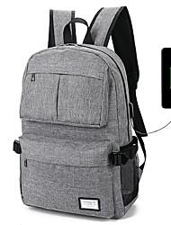 mochila para laptop saco de viagem de lazer usb recarregável