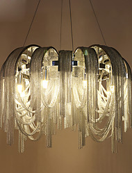 Luxury Restaurant Villa Living Room Bedroom Atmosphere Design Study Of Circular Ring Tassel Aluminum Chain Pendant Lamp
