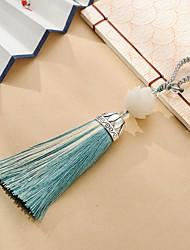 saco / telefone / chaveiro charme cristal / estilo de strass borla brinquedo cartoon poliéster nylon estilo chinês 15cm