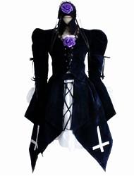 Una Sola Pieza/Vestidos Lolita Clásica y Tradicional vestido patrón Cosplay Vestido  de Lolita Negro Moda Rayas Encaje de costura