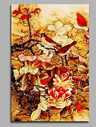Pintados à mão Vintage Vertical,Artistíco Rústico Aniversário Moderno/Contemporâneo Escritório/Negócio Pastoril Natal Ano Novo 1 Painel