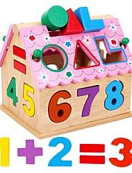 раннего детства деревянная игрушка цифровой формы дома тринадцать отверстий разведывательных полевых блоков соответствия jj7701-0526