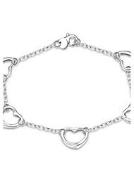 Femme Bracelet Bijoux Basique Cœur Plaqué argent Forme de Coeur Bijoux Pour Soirée Quotidien