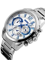 Luxury Brand Men Dress Chrono Watch 6 Hands Full Steel Watch Quartz Military Army Watch Waterproof Sport Stopwatch SKMEI 9108
