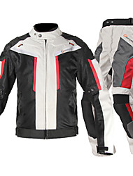 Jacket Pants Set Motorcycle Protective Gear  Men's Adults Nylon Fiber Velcro Easily Adjustable Protective Gear Anti-Wear