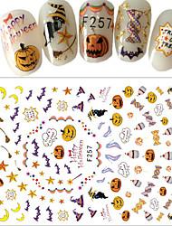 1 Engomada del arte del clavo Halloween Suministros DIY Adhesivo 3D Año Nuevo maquillaje cosmético Dise?o de manicura