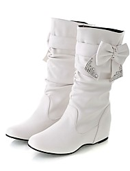 Women's Boots Fashion Boots Fall Winter Leatherette Casual Red Yellow Black White Under 1in