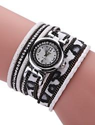Жен. Модные часы Часы-браслет Имитационная Четырехугольник Часы Китайский Кварцевый PU Группа Винтаж С подвесками Повседневная Элегантные