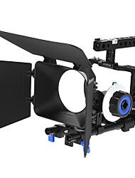 Andoer Professional Video Cage Rig Kit Film Making System w/ 15mm Rod Follow Focus FF Matte Box for Sony A6000 A6300 A6500 ILDC Mirrorless Camera Camc