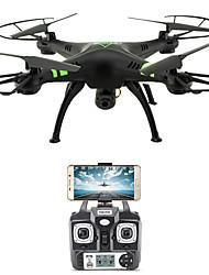 Drone X53 4CH 6 Eixos Com Câmera HD de 720P Altura segura WIFI FPV Retorno Com 1 Botão Auto-Decolagem Acesso à Gravação em Tempo Real