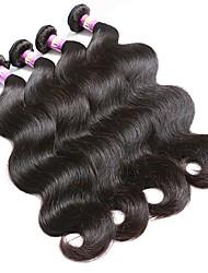 cabelo de cor natural tece textura indiana onda corporal 18 meses 4 pedaços de tecidos de cabelo
