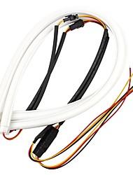 ziqiao 2шт 60 см drl гибкая светодиодная трубка полоса стиль дневное время работы огни слезы полосы автомобиля фары поворота света света